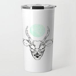 Green deer Travel Mug