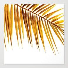 golden palm leaf II Canvas Print