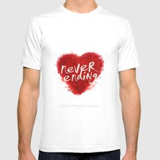 never ending love Mens Fitted Tee White MEDIUM