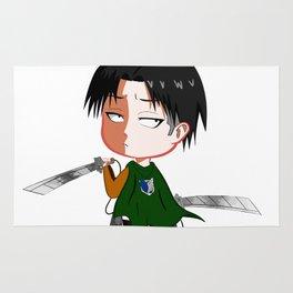 "Chibi Captain Levi (Rivaille) from ""Attack On Titan""/""Shingeki No Kyojin"" Rug"