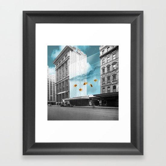 between the walls Framed Art Print