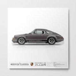 1967 Porsche 912R GRAPHITE Metal Print