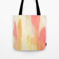 Coral Yellow Tote Bag