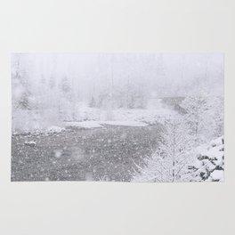 Light Snowfall Rug