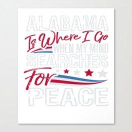 Alabama American Patriotic Memorial Day Canvas Print
