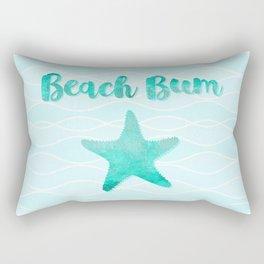 Beach Bum Glam Rectangular Pillow