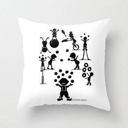 Jugglefest! Throw Pillow
