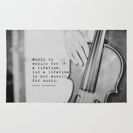 Music Quote Rachmaninov Rug