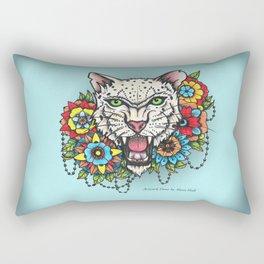Colorful Cat.  Rectangular Pillow