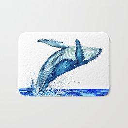 Whale breach Bath Mat