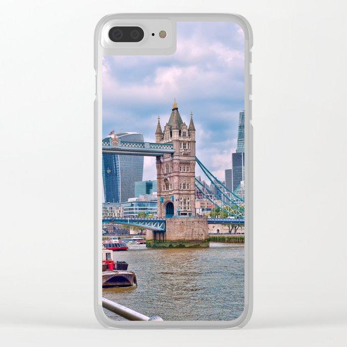 London Tower Bridge Blue Clear iPhone Case
