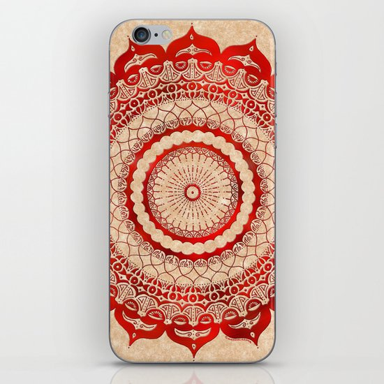 omulyána red gallery mandala iPhone & iPod Skin