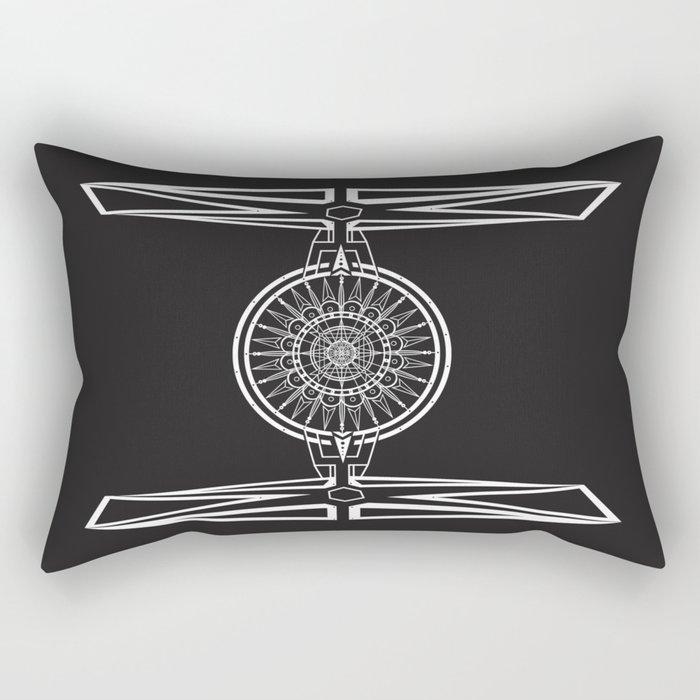 Tie Fighter Mandala Illustration print Rectangular Pillow