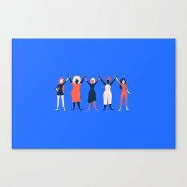 Girl Gang - Blue Canvas Print