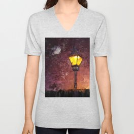Lamp And Moon Unisex V-Neck
