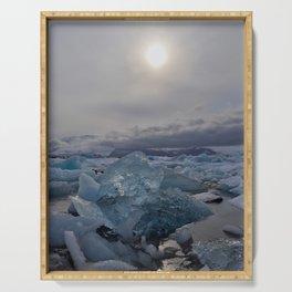 Blue Ice - Jökulsárlón Lagoon Serving Tray