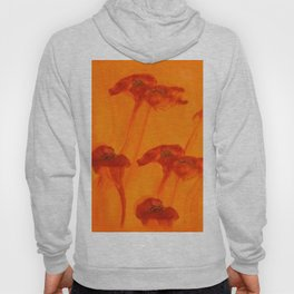 Abstract Red Poppy Flowers Orange Background #decor #society6 #buyart Hoody
