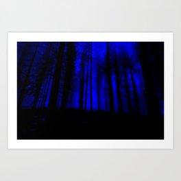 fantasy forest at night Art Print