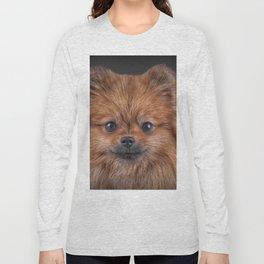 Drawing Dog Pomeranian Spitz Long Sleeve T-shirt