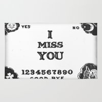 ouija Area & Throw Rugs featuring Ouija I Miss You by Sarah Hinds