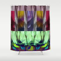 the office Shower Curtains featuring Office Abstract by Ellen Turner