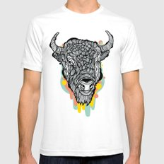 Bison Mens Fitted Tee White SMALL
