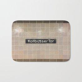 Berlin U-Bahn Memories - Kottbusser Tor U8 Bath Mat