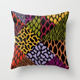 Animal Patterns – Geo-Style Throw Pillow