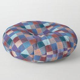 Damask Patchwork Floor Pillow