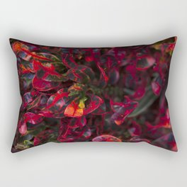 Croton in Red Rectangular Pillow