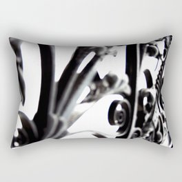 Black and White Abstract Patterned Metal Gate Design Rectangular Pillow