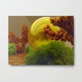 Utopian Landscape Yellow Metal Print