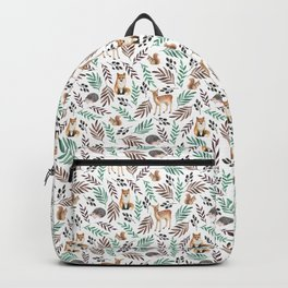 Cute forest. Watercolor Backpack