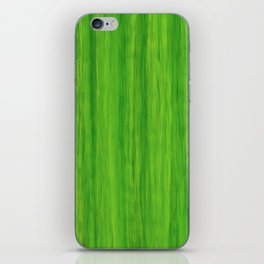 Green Melon Colored Vertical Stripes iPhone Skin