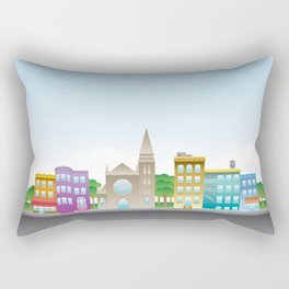 Park Slope Skyline (Color) Rectangular Pillow