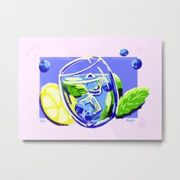 Blueberry Mint Metal Print