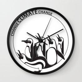 Change Climate Change Wall Clock