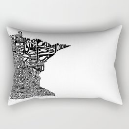 Typographic Minnesota Rectangular Pillow