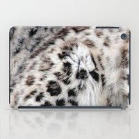 snow leopard iPad Cases featuring Snow Leopard by Moody Muse