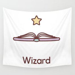 Cute Dungeons and Dragons Wizard class Wall Tapestry