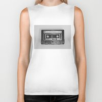 tape Biker Tanks featuring Tape by RMK Creative