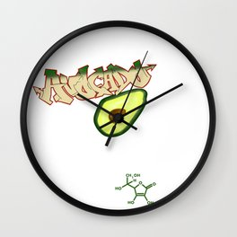 Fooditi- Avocado Wall Clock