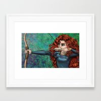 brave Framed Art Prints featuring Brave by Kimberly Castello