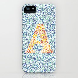"""A"" Eye Test Full iPhone Case"