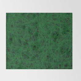 Emerald Green Thread Texture Throw Blanket