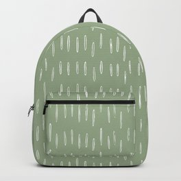 Raindrop Boho Abstract Pattern, Sage Green Backpack