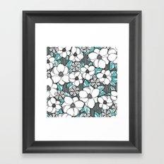 Midnight Magnolias Framed Art Print