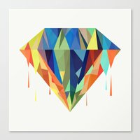 diamond Canvas Prints featuring Diamond by By Nordic