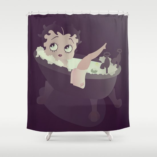 betty boop shower curtainpoly iconik art | society6