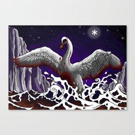 Swan of Tuonela Canvas Print